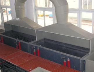 酸洗设备、集气罩及酸雾净化塔设备